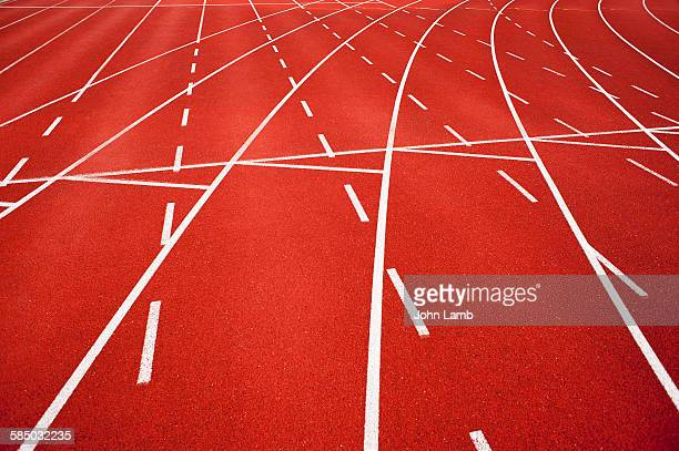 athletics track - sports track stock pictures, royalty-free photos & images