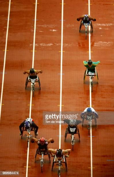 World Championships 2003 Paris Illustration Finale Final 1500 M Fauteuil Wheelchair Hommes Men 9Iã¨Me Championat Du Monde Athletismestade De France...