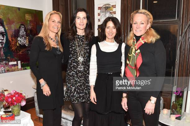Ati Sedgwick Jennifer Creel Amanda Ross and Muffie Potter Aston attend the Ati Sedgwick Private Preview at The VFGI Townhouse Gallery on March 6 2018...