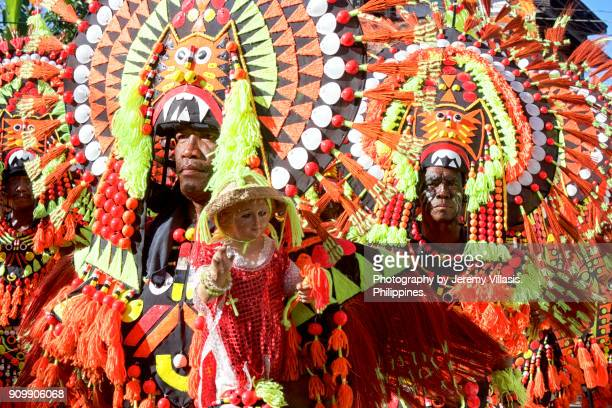 ati-atihan festival, kalibo, the philippines - dinagyang festival stock photos and pictures