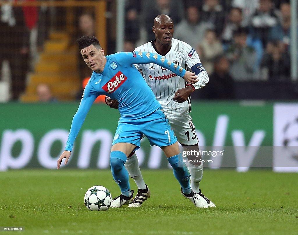 Besiktas vs Napoli  UEFA Champions League  : News Photo