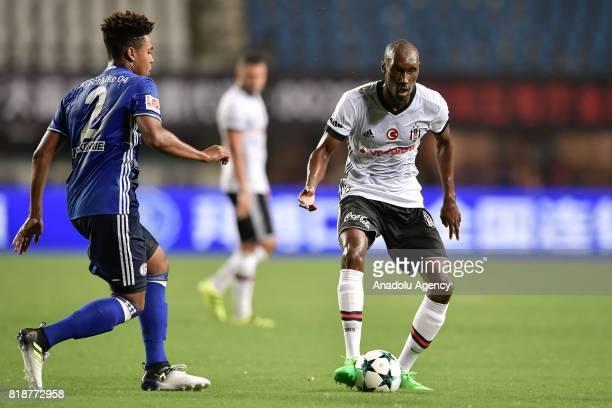 Atiba Hutchinson of Besiktas in action against Weston McKennie of Schalke 04 during the International Champions Cup match between Schalke 04 and...