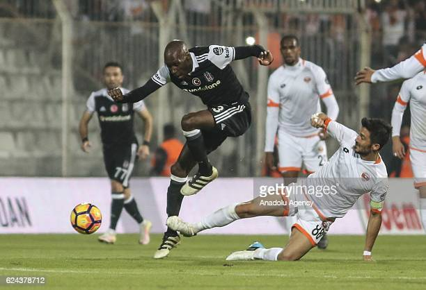 Atiba Hutchinson of Besiktas in action during the Turkish Spor Toto Super Lig match between Adanaspor and Besiktas at Adana 5 Ocak Fatih Terim...