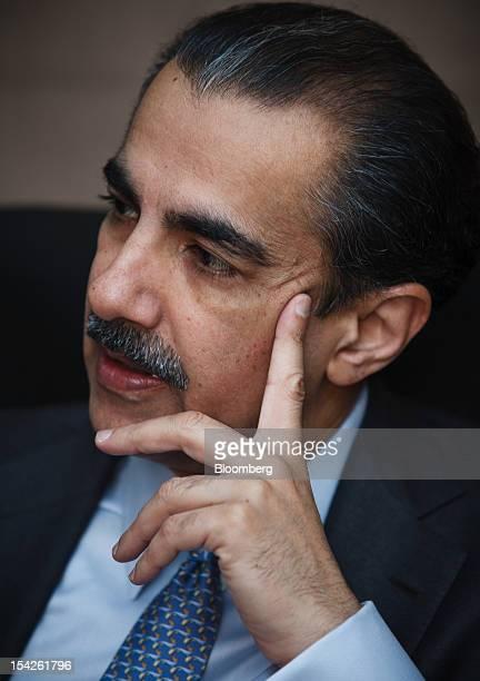 Atif Bajwa chief executive officer of Bank Alfalah Ltd speaks during an interview in Karachi Pakistan on Wednesday Oct 17 2012 Bank Alfalah...