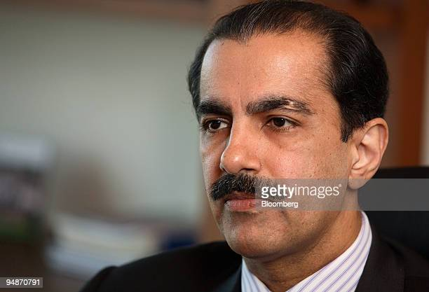 Atif Bajwa president and chief executive officer of MCB Bank Ltd pauses during an interview at his office in Karachi Pakistan on Monday Oct 20 2008...