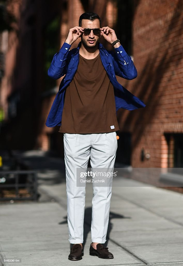 Atif Kazmi is seen outside the Rideau show wearing a Suitsupply ...