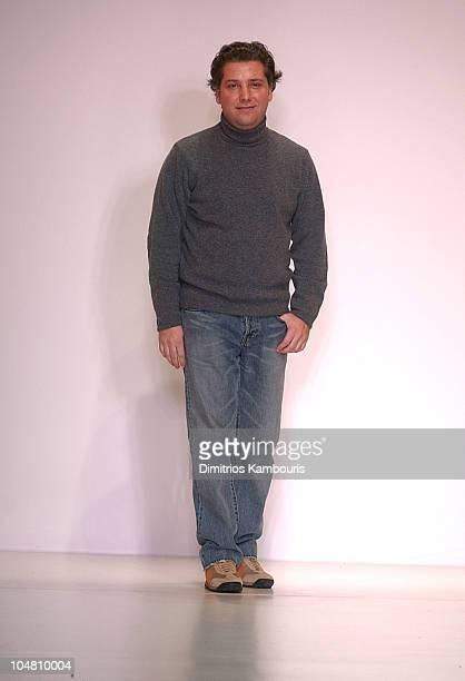 Atil Kutoglu during MercedesBenz Fashion Week Fall 2003 Collections Atil Kutoglu Runway at Bryant Park in New York City New York United States