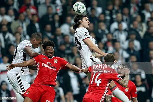 Atinc Nukan of Besiktas in action during the UEFA Champions League Group B football match between Besiktas and Benfica at Vodafone Arena in Istanbul...