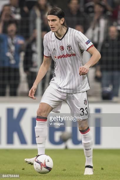 Atinc Nukan of Besiktas JKduring the UEFA Europa League round of 16 match between Besiktas JK and Hapoel Beer Sheva on February 23 2017 at the...