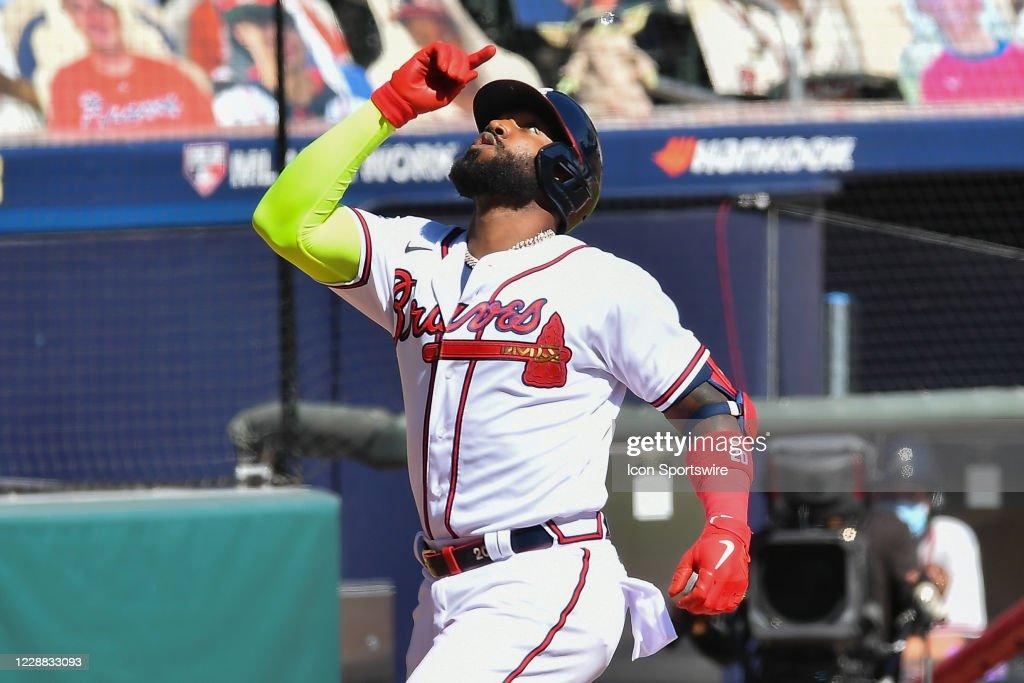 MLB: OCT 01 NL Wild Card Series - Reds at Braves : News Photo