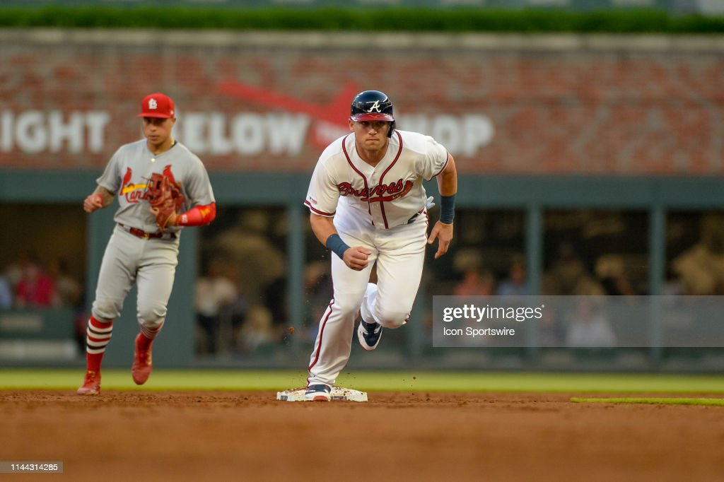 MLB: MAY 16 Cardinals at Braves : News Photo