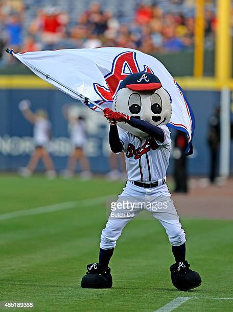 Atlanta Braves mascot Homer entertains fans before the game against the Arizona Diamondbacks at Turner Field on August 14 2015 in Atlanta Georgia