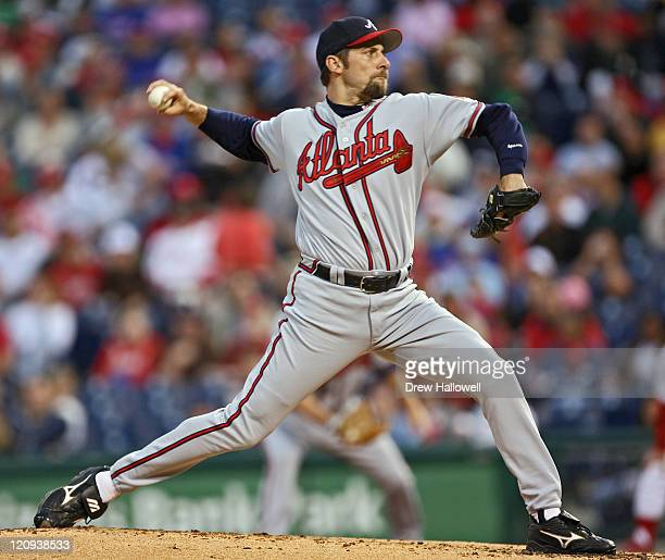 Atlanta Braves pitcher John Smoltz in action Wednesday May 3 2006 at Citizens Bank Park in Philadelphia PA The Philadelphia Phillies defeated the...