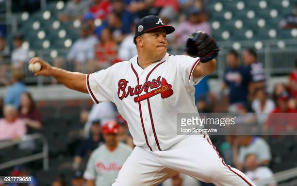 Atlanta Braves Starting pitcher Bartolo Colon during the MLB game between the Atlanta Braves and the Philadelphia Phillies on June 5 2017 at SunTrust...