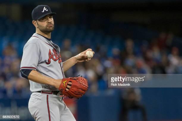 Atlanta Braves starting pitcher Jaime Garcia didn't seem to be enjoying his start Toronto Blue Jays Vs Atlanta Braves in MLB interleague regular...