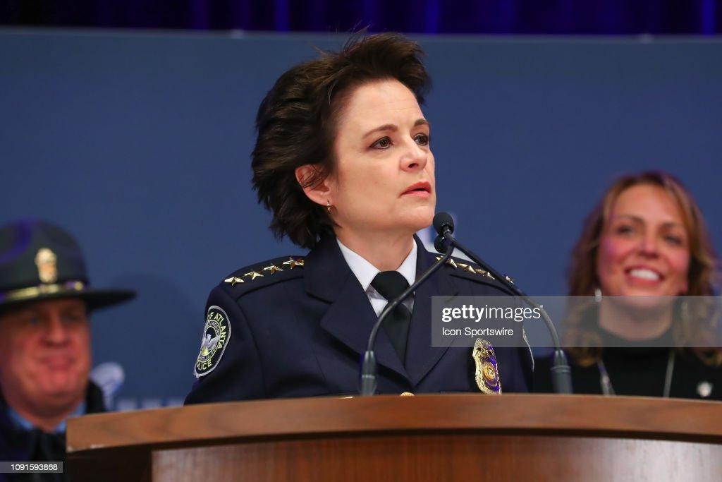 NFL: JAN 30 Super Bowl LIII - Security Press Conference : News Photo