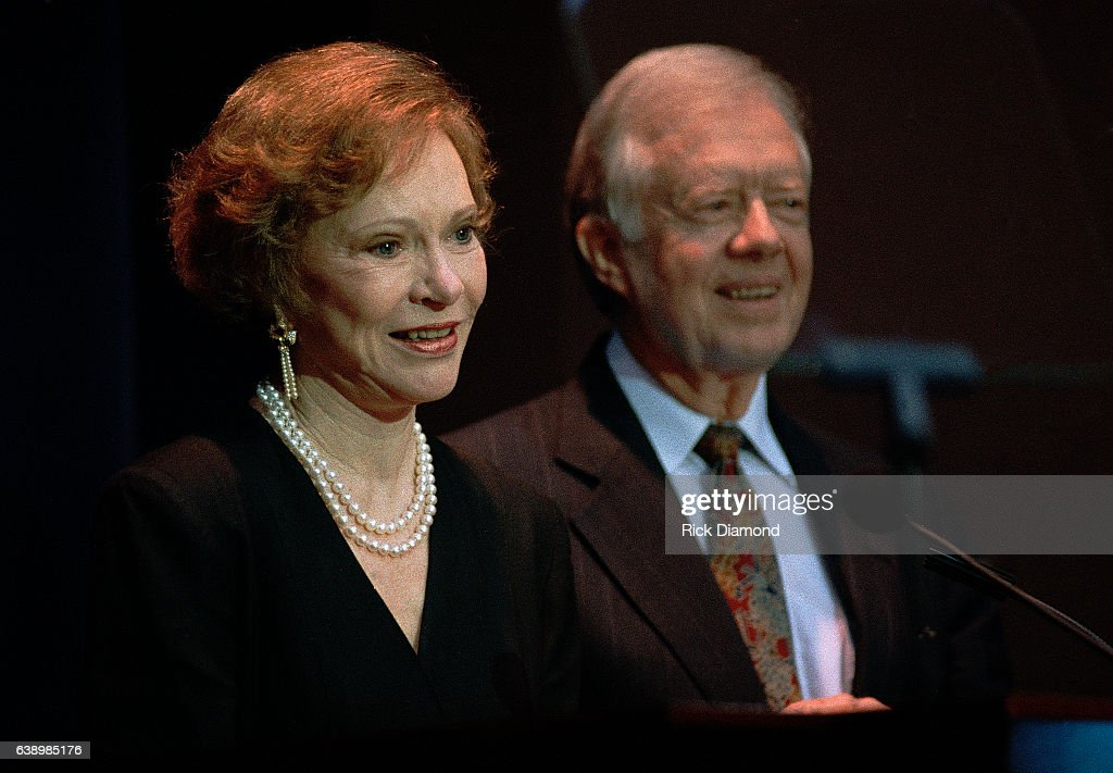 Atlanta - Circa October 1994; Former First Lady Rosalynn Carter and Jimmy Carter attend Former President Jimmy Carter surprise 70th. birthday party at The Carter Presidential Center in Atlanta Georgia October, 1994