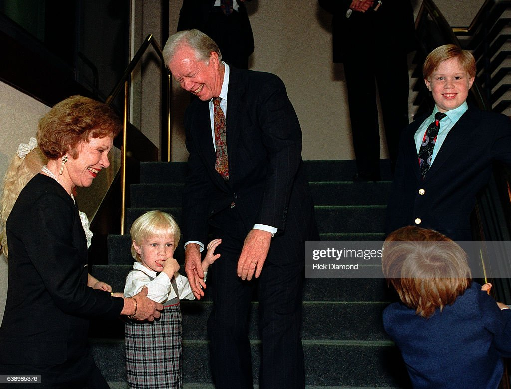 Atlanta - Circa October 1994; Former First Lady Rosalynn Carter, grand children and Jimmy Carter attend Former President Jimmy Carter surprise 70th. birthday party at The Carter Presidential Center in Atlanta Georgia October, 1994