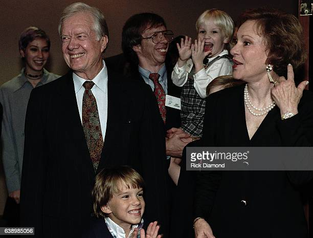 Atlanta Circa October 1994 Former First Lady Rosalynn Carter Youngest son Jeff Carter grand children and Jimmy Carter attend Former President Jimmy...