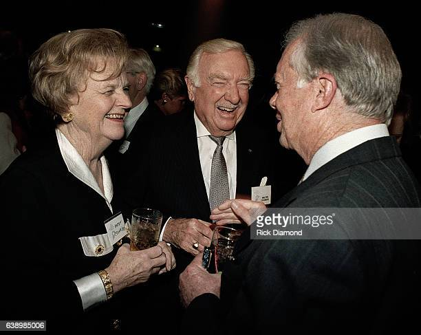 Mary Elizabeth Maxwell Cronkite Former CBS News Anchor Walter Cronkite and Former President Jimmy Carter attend Former President Jimmy Carter...