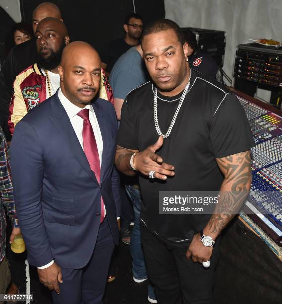 Atlanta City Councilman Kwanza Hall and Rapper/Actor Busta Rhymes attend the 'Together' A Black History Month Celebration Of Unity Community and 15th...