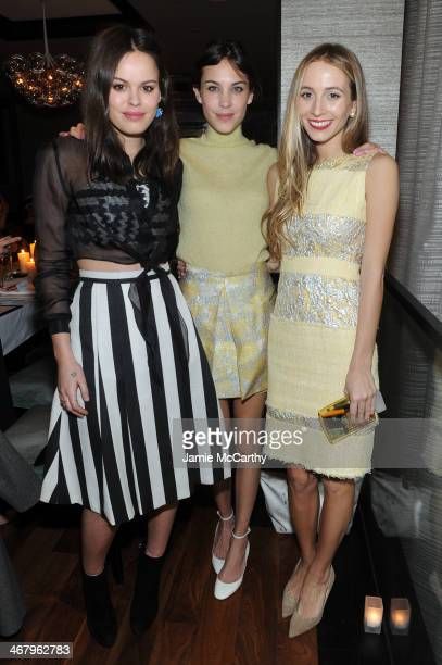 Atlanta de Cadenet, Alexa Chung and Harley Viera-Newton attend Christian Siriano private dinner and after party during Mercedes-Benz Fashion Week...
