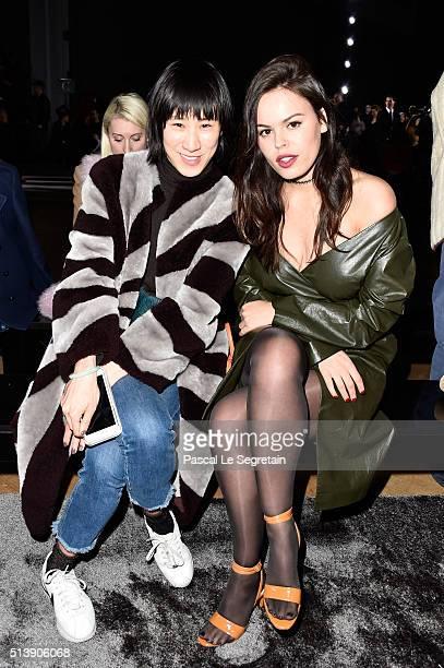 Atlanta de Cadenet and a guest attend the Nina Ricci show as part of the Paris Fashion Week Womenswear Fall/Winter 2016/2017 on March 5 2016 in Paris...
