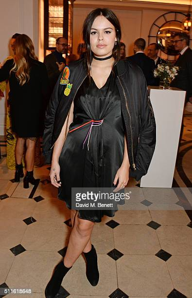 Atlanta de Cadenet attend as mytheresacom and Burberry celebrate the new MYT Woman at Thomas's on February 21 2016 in London England