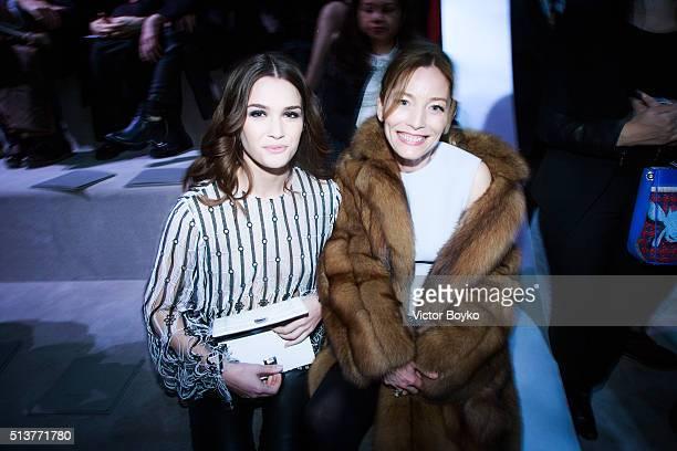 Atlanta de Cadenet Lucie de la Falaise attends the Christian Dior show as part of the Paris Fashion Week Womenswear Fall/Winter 2016/2017 on March 4...