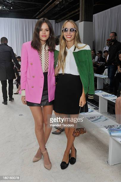 Atlanta de Cadenet Taylor and DJ Harley Viera Newton attends the 3.1 Phillip Lim show during Spring 2014 Mercedes-Benz Fashion Week at Skylight at...