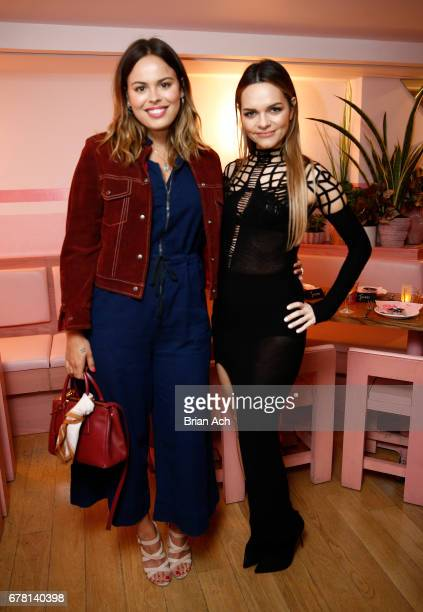 Atlanta De Cadenet Taylor and Maria Hatzistefanis pose for a photo together as Hatzistefanis and Brad Goreski host Rodial VIP Dinner on May 3 2017 in...