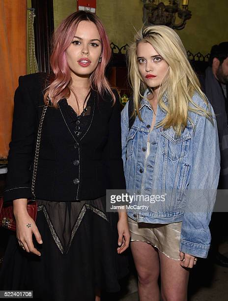 Atlanta de Cadenet Taylor and Sky Ferreira attend the 2016 Tribeca Film Festival After Party For Elvis Nixon Sponsored By Bai Beverages at The Jane...