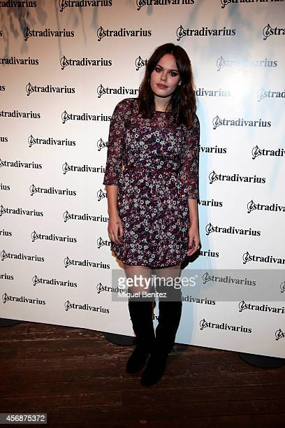 Atlanta de Cardenet poses during a photocall for 'The Event Paper' party by Stradivarius on October 8 2014 in Barcelona Spain