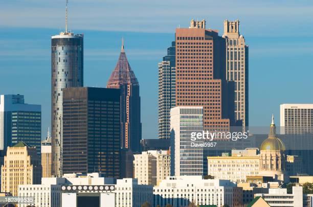 Atlanta downtown skyline closeup