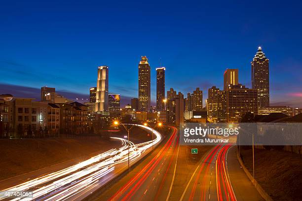 CONTENT] Atlanta Downtown skyline from the Jackson St Bridge