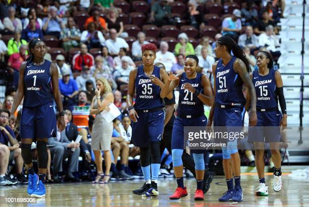 Atlanta Dream center Elizabeth Williams Atlanta Dream guard Angel McCoughtry Atlanta Dream guard Renee Montgomery Atlanta Dream forward Jessica...
