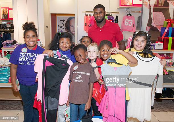 Atlanta Falcon Devin Hester surprises the Boys Girls Club of Metro Atlanta with a holiday shopping spree for #GivingTuesday at JCPenney in...