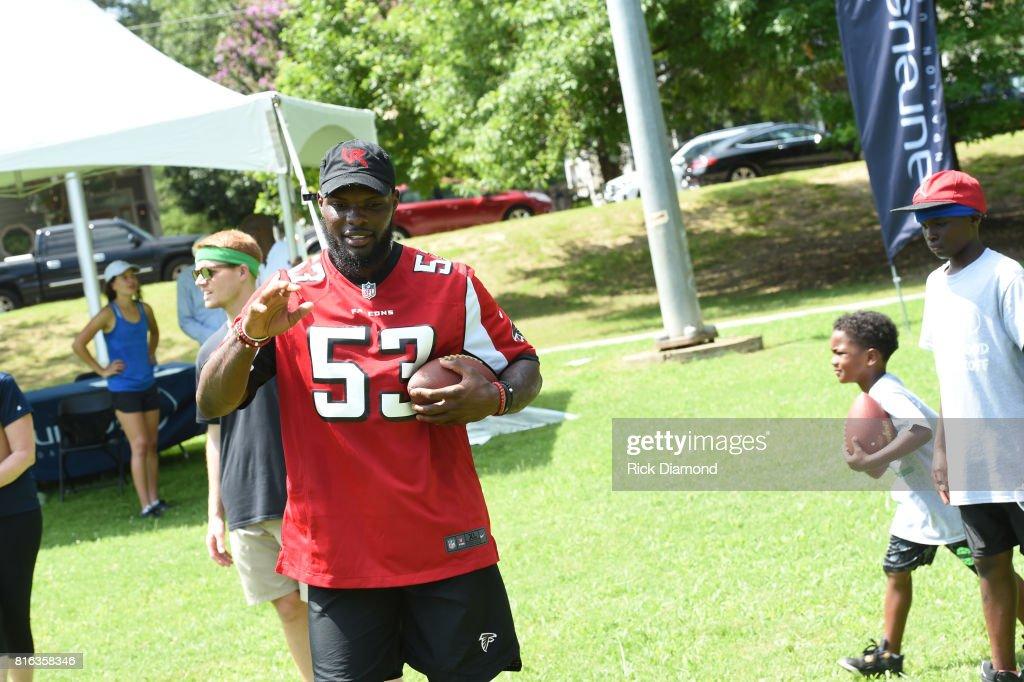 Atlanta Falcon Linebacker LaRoy Reynolds attends 'Nickelodeon's Worldwide Day Of Play And Laureus Sport For Good In Atlanta' at Washington Park on July 17, 2017 in Atlanta, Georgia.