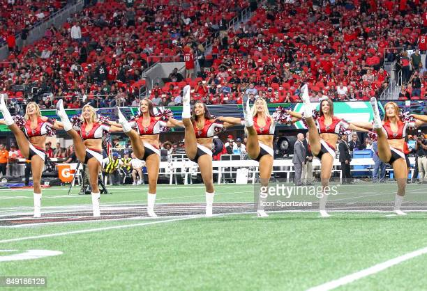 Atlanta Falcons cheerleaders perform before the NFL game between the Green Bay Packers and the Atlanta Falcons on September 17 at the MercedesBenz...