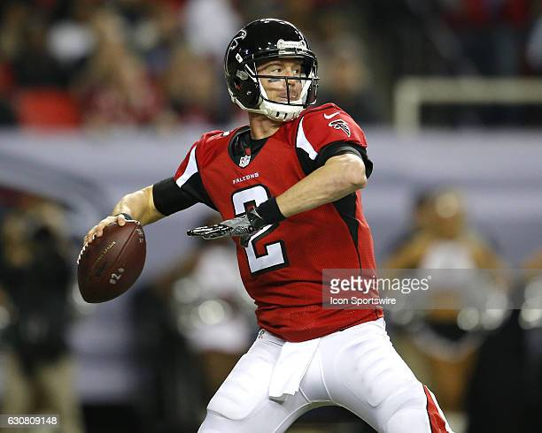 Atlanta Falcons quarterback Matt Ryan drops back to pass during first half action of an NFL football game between the New Orleans Saints and the...