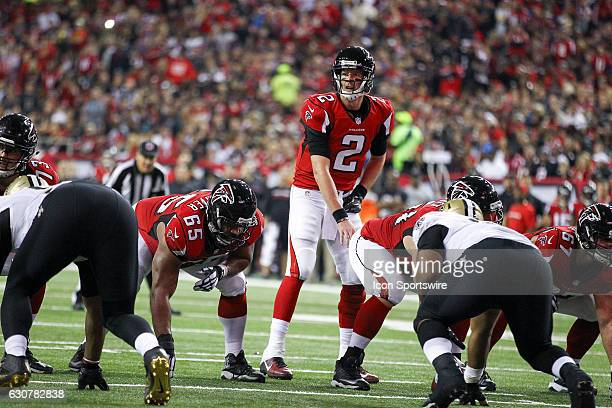 Atlanta Falcons quarterback Matt Ryan gets ready to take a snap during the first half of the NFL game between the New Orleans Saints and the Atlanta...
