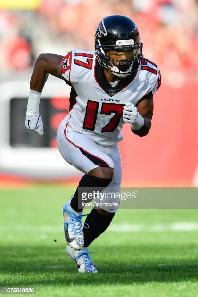 Atlanta Falcons wide receiver Marvin Hall during the second half of an NFL game between the Atlanta Falcons and the Tampa Bay Bucs on December 30 at...