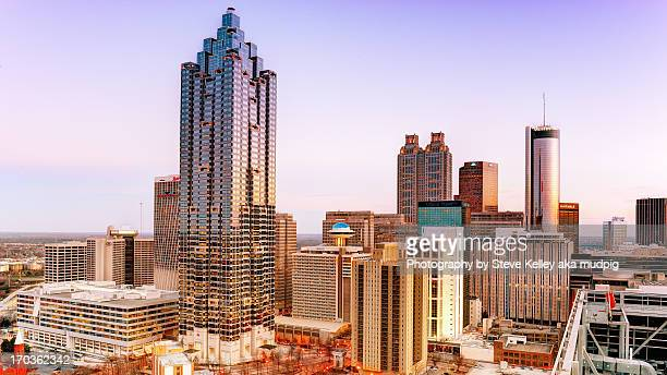 atlanta, georgia - atlanta skyline stock pictures, royalty-free photos & images