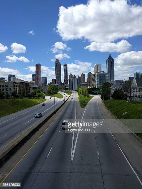 Atlanta, Georgia Skyline with Clouds
