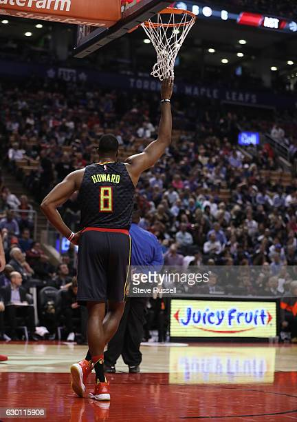 TORONTO ON DECEMBER 16 Atlanta Hawks center Dwight Howard relaxes during a break in play as the Toronto Raptors lose to the Atlanta Hawks 125121 at...