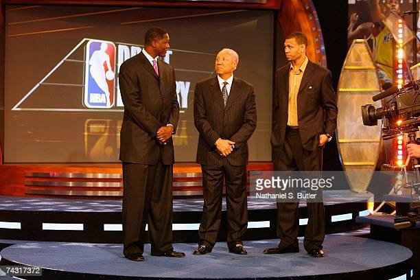 Atlanta Hawks representative Dominique Wilkins Seattle SuperSonics representative Lenny Wilkins and Portland Trail Blazers representative and 2007...