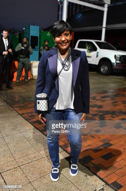 Atlanta mayor Keisha Lance Bottoms attends Atlanta New Year's Eve 2019 Peach Drop on December 31 2018 in Atlanta Georgia