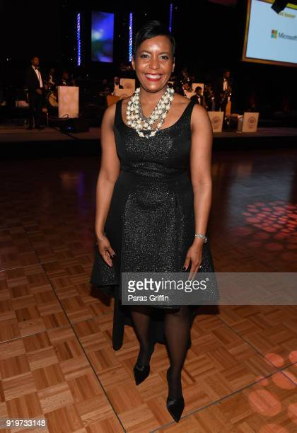 Atlanta mayor Keisha Lance Bottoms attends Morehouse College 30th Annual A Candle In The Dark Gala at The Hyatt Regency Atlanta on February 17 2018...