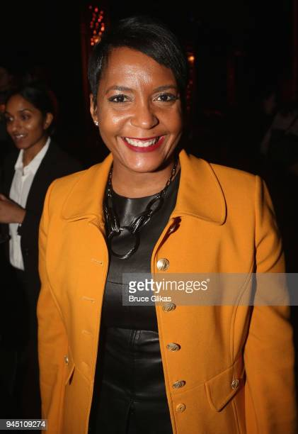 Atlanta Mayor Keisha Lance Bottoms poses at the opening night of the play Children of a Lesser God on Broadway at Studio 54 on April 11 2018 in New...
