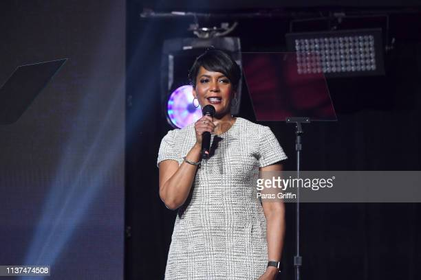 Atlanta Mayor Keisha Lance Bottoms speaks onstage during 2019 Beloved Benefit at MercedesBenz Stadium on March 21 2019 in Atlanta Georgia